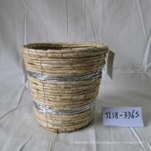 Maceta redonda de la cuerda del maíz