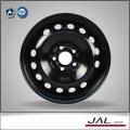 High Performance Shiny Black Car Wheels Steel Rim in 16x6.5