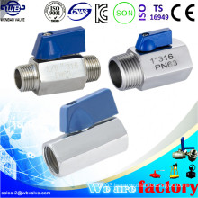 316 Stainless Steel Mini Ball Valve 1 Inch