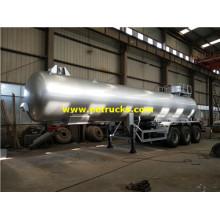 24000L 25ton Sulfur Dioxide Tanker Trailers