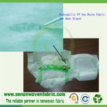 Tejido hidrofílico no tejido para Bady Pañal