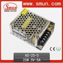 Fuente de alimentación conmutada de salida única Mini 25W 5VDC 5A
