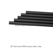 Chegada nova 25x23x130mm cutted tubo de fibra de carbono japonês tubes8 unidades / pacote