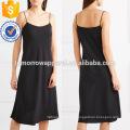 Venta caliente correa de espagueti negro midi summer daily dress para la fabricación de la muchacha atractiva ropa de mujer al por mayor de la manera (TA0006D)