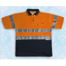 Доказательство воды Мужская оранжевая светоотражающая рубашка поло