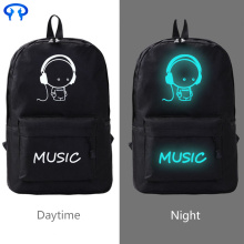 Noctilucent Nylon Backpack for students' leisure travel