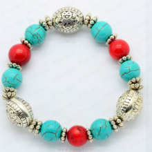 Red coral Turquoise beads bracelet