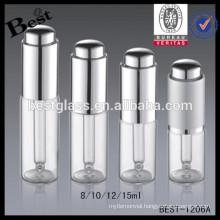 clear glass 12ml dropper bottles, press cap aluminum 12ml dropper bottles