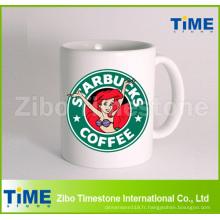 Tasse de café en céramique promotionnelle faite sur commande de Starbucks