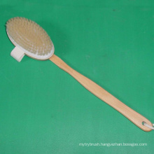 Pental BB-015 SPA Gift Natural Bleached Bristle Body Brush Bath Body Care Brush for Cleansing