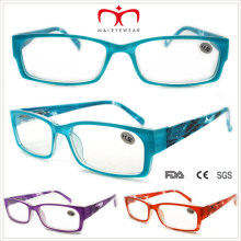 Дамы Пластиковые очки для чтения с цветочным узором (WRP508338)