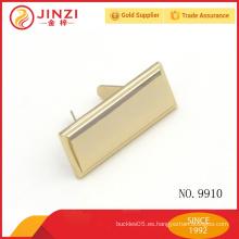 Etiqueta personalizada de la insignia del equipaje del metal para el accesorio del bolso