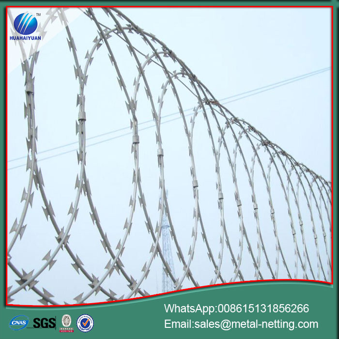 Anti-climb Flat Razor Barbed Wire