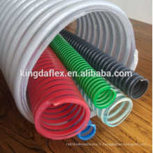 Tuyau flexible en PVC de tuyau flexible d'aspiration de PVC de tuyau flexible de 25mm 1 pouce flexible