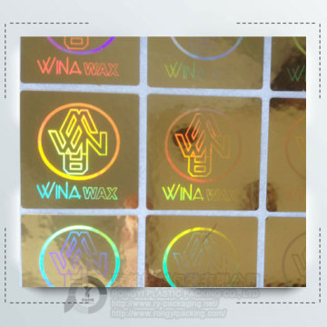 Custom  Laser 3D Gold Security Hologram Label