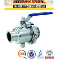 2/4/6/ Inch 2PC Ss304 Sanitary Ball Valve Price for Food Industry