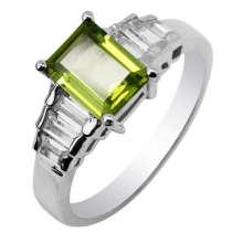 Anel de joias de prata Peridot (GR0048)