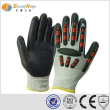 Des gants antidéflagrants TPR en forme de soleil, tricotés avec HPPE