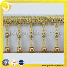 High Costume Fringe Beads Tassel with Cylinder-Shaped