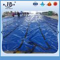 0.5mm Thickness 180oz Pvc  Lumber Tarpaulin D-rings