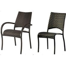 Chaise sans bras extérieur pile haute Pe en osier