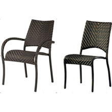 Outdoor Stack High Pe Wicker Armless Chair