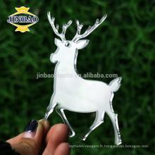 forme animale matérielle acrylique de haute qualité senti décorations d'arbre de noël indigènes