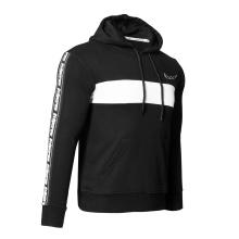 Superstarer Custom Print Cotton Polyester Black Color Men Pullover Hoodie