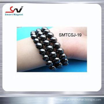 Bracelete magnético permanente de ferrite / hematites de moda