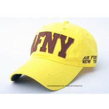 OEM Produce Customized Logo Applique bordado promocional de algodón Gorra de béisbol
