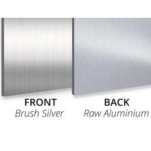 Aluminium Composite Panel Brush Silver/Raw Aluminium