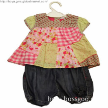 Cute girls baby tops and pants 2pieces suits