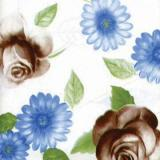 Table Cloth with Flower Printing and Embossed PVC Front Type