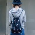 Renaissance cotton printed canvas bag backpack