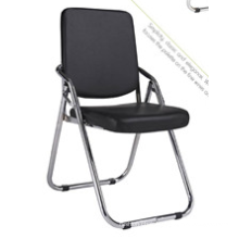 Single foldable leather school chair