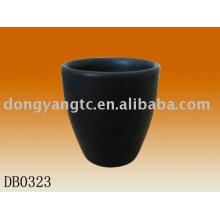 50cc matte ceramic black coffee cups