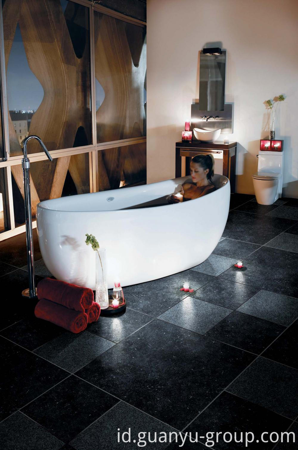 Black Anti-Slip Rustic Porcelain Tile
