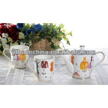 AMERICAN style coffee tea espresso set cup & saucer dinner ware set ceramic melamine tableware set