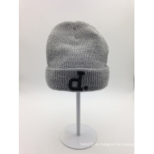 La manera al por mayor del invierno hizo punto el sombrero de la gorrita tejida (ACEK0115)