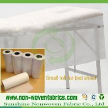 Utilisation de tissu non-tissé de pp pour le drap jetable