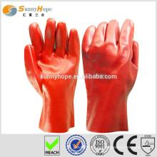 Саннихоуп защищает пвх-пунктирные рукавные хлопчатобумажные перчатки