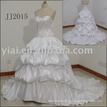 JJ2015 vestido de bola bordado estilo Europa pliegue tamaño de los vestidos de novia 2015