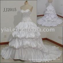 JJ2015 Vestido de baile Bordado Europa Style Plust Size Vestidos de casamento 2015