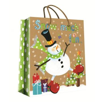 CHRISTMAS SERIES KRAFT GIFTBAG7-0