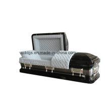 Cercueil noir avec la Nature brossé