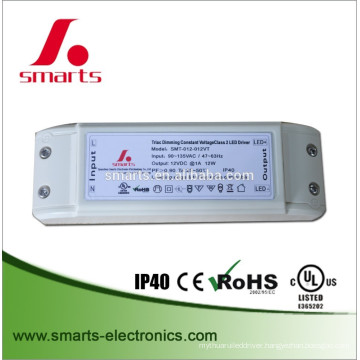 12W 12V constant voltage triac dimmable led driver for MR16