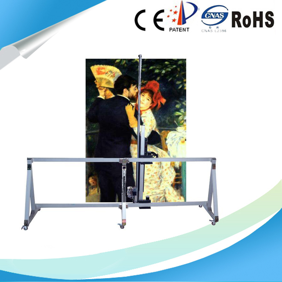 Vertical Canvas Painting Wall Printer Machine