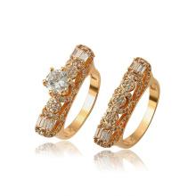15768 xuping neuester design luxus synthetischer edelstein umwelt kupfer frauen set ring
