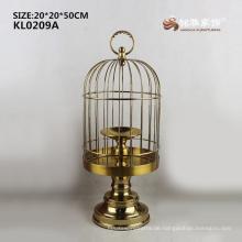 2017 Neuer Edelstahl Kupfer Farbe Handwerk Vogel Käfig für Dekoration