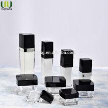 Wholesale square acrylic bottle,Square acrylic bottle for cosmetics ,Acrylic Cream Jar and Lotion Bottle Cosmetic